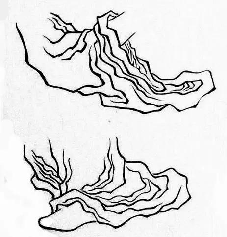 手绘白描水纹图片