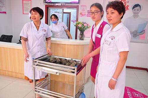 浓情粽意 济南和谐妇科医院端午粽子传情 处处展现医患和谐