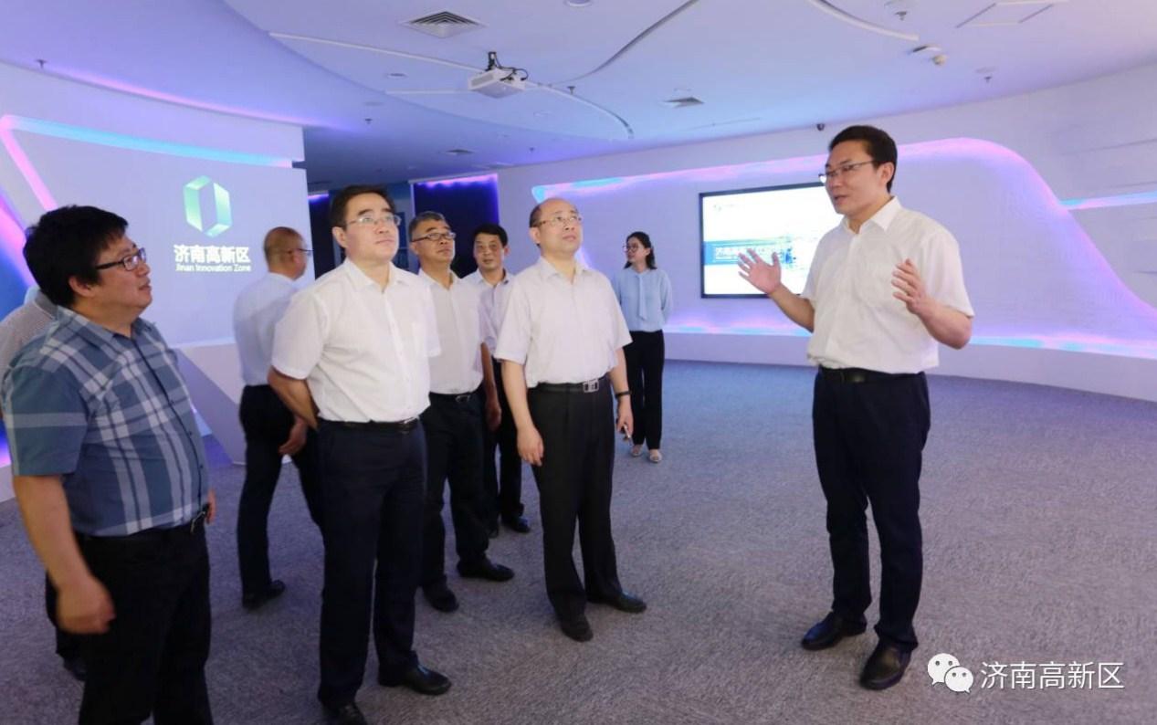 复旦大学副校长张志勇一行来高新区参观考察