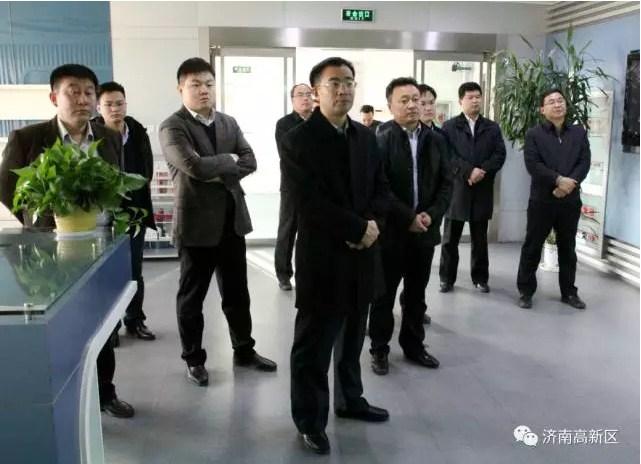省人才工作领导小组办公室到济南高新区调研