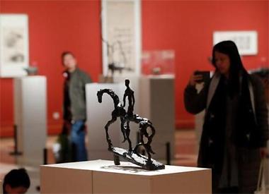 法籍华人艺术展亮相中国美术馆