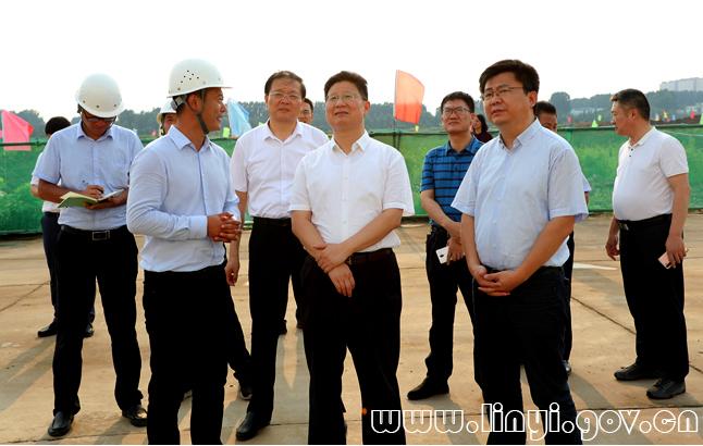 孟庆斌到沂南县调研督导重点项目建设及防汛工作
